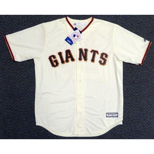 best website bf597 bb81c Autographed Buster Posey Jersey - Cream Majestic L 111451 ...