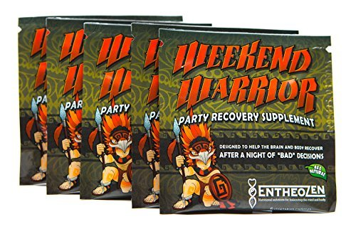 Weekend Warrior Party Recovery 5-pack Anti Hangover EntheoZen with 5HTP and B vitamins by Entheozen