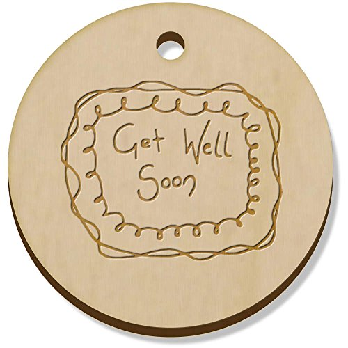 Charm Get Well (Azeeda 11 x 34mm 'Get Well Soon' Wooden Pendants / Charms (PN00006774))