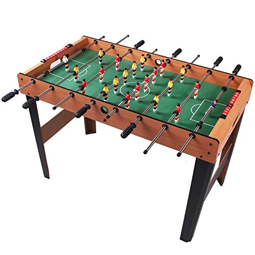45'' Foosball Soccer Table Kick-Off Football Table Indoor Arcade Room Competition Sports Game Kids Children Holiday Season Birthday Christmas Gift Wooden Construction Strong Steel Rods by HPW