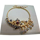 Traditional Exotic Indian Gold-Toned Belly Dance Costume Accessory Nose Ring with Rhinestones #3