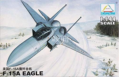 - MMS_Store Plastic Assembly Aircraft Model Scale 1: 144 Fighter Military Flying Machine Vehicles 25 Kinds to Choose ,F15-A Eagle