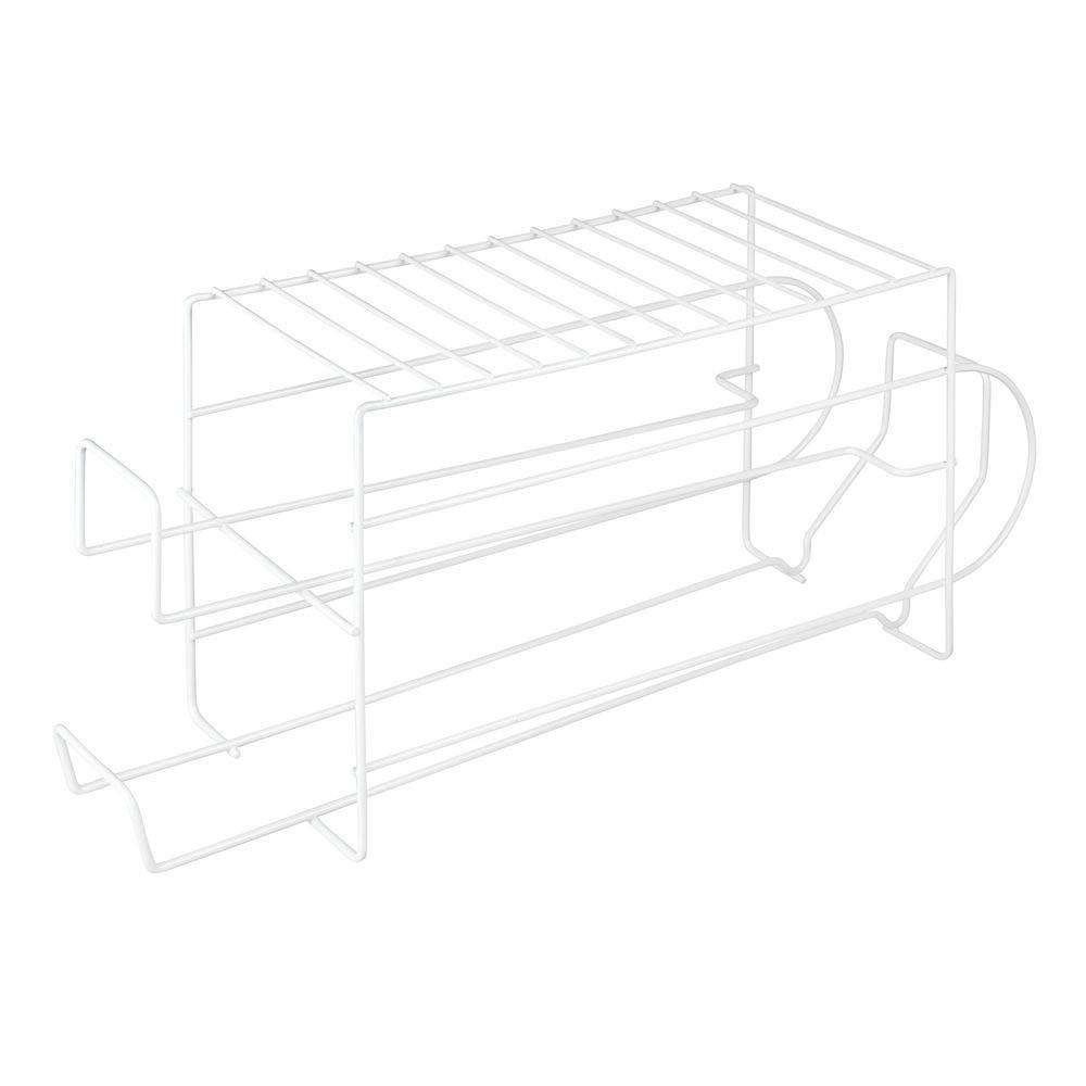 rangement de cuisine moderne pour canettes et bo/îtes de conserve bo/îte de rangement stable en m/étal pour le r/éfrig/érateur ou larmoire /&nda mDesign /étag/ère pour produits alimentaires lot de 2