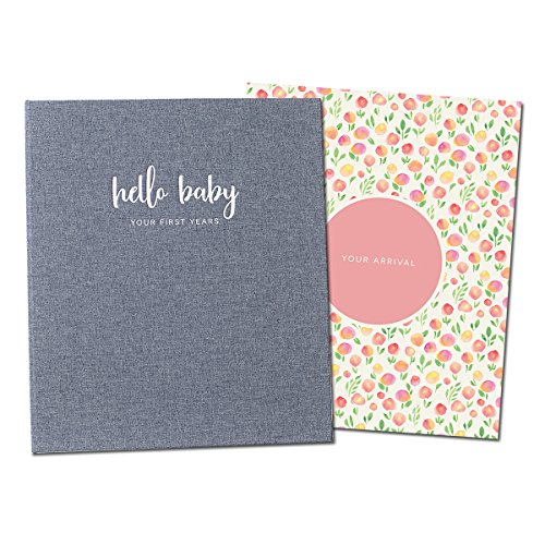 Minimalist Baby Memory Book for Girls | Keepsake Milestone Journal | LGBTQ Friendly | 9.75 x 11.25 in. 60 Pages | Perfect Baby Shower Gift (Girls Book Memory)