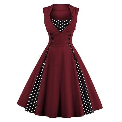 Vestidos Vintage 50s Rockabilly Vestido Estilo Vintage