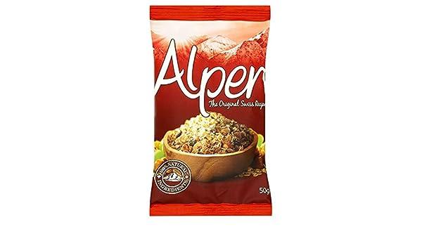 Alpen Muesli originales bolsitas de 50 g (paquete de 30 x 50 g): Amazon.es: Alimentación y bebidas