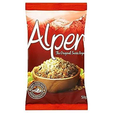 Alpen Muesli originales bolsitas de 50 g (paquete de 30 x 50 g)