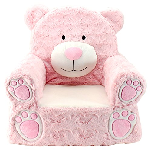 Animal Adventure Sweet Seats | Pink Bear Children's Chair | Large Size | Machine Washable Cover ()