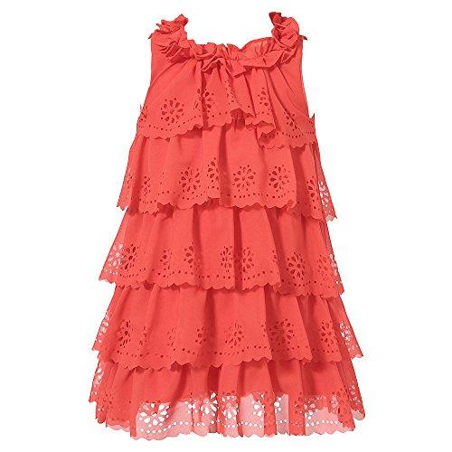 Richie House Big Girls' Chiffon Layered Dress RH0869-B-7/8
