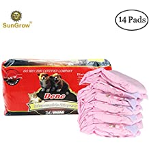 Super Absorbent, Leak-Proof SunGrow Dono Pet Diapers --- Convenient, Environmental Friendly Disposable Pet diapers : Safe & Comfortable Fit for Dogs & Cats (Pink color)