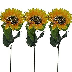 """Lily Garden 24"""" Silk Sunflowers Artificial Flowers Decor (3) 18"""