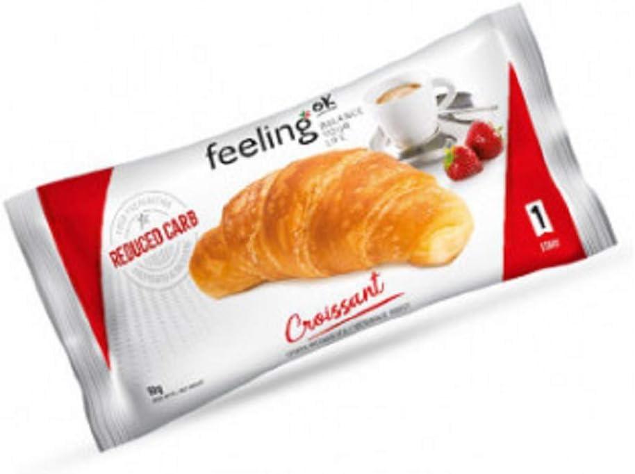 10 x 50g feeling ok croissant start stage 1 cornetto per colazione dietetico B081K77ZQJ