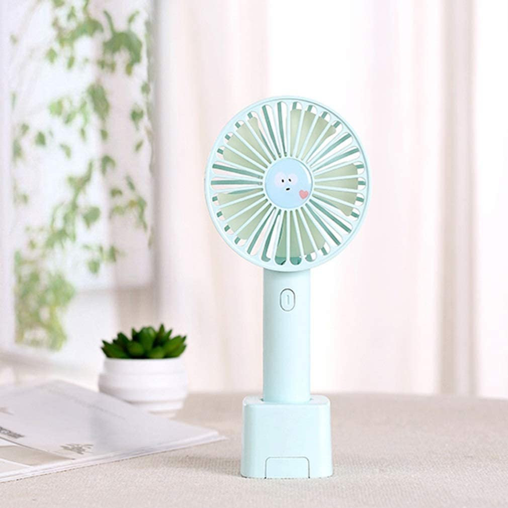 Mini Handheld USB Small Fan Charging Mute Can Stand with Mobile Phone Holder 3 Winds Low Noise Tingting Color : Pink, Size : 9.85.520.8cm Fan