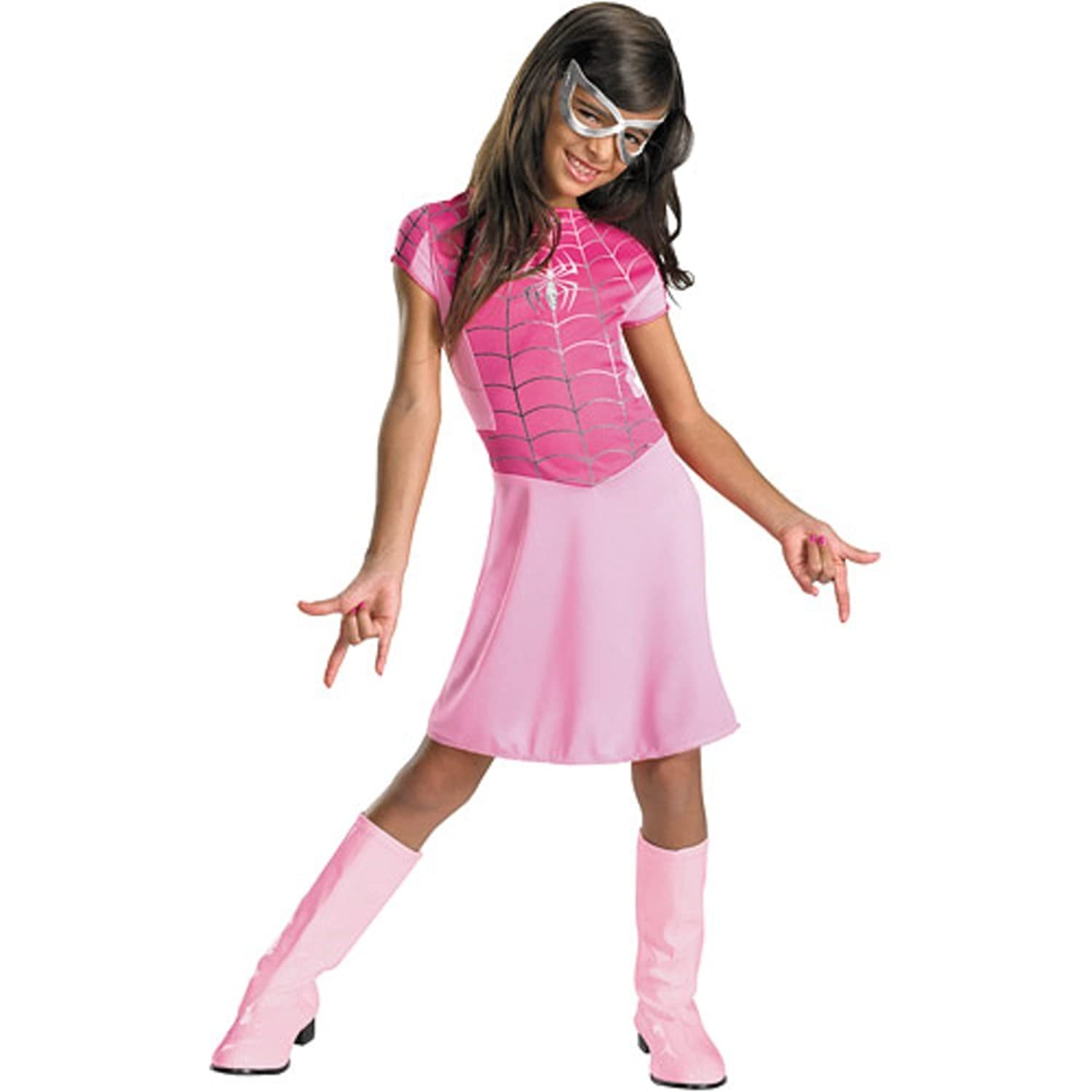 Amazon.com Women of Marvel Pink Spider-Girl Costume Spider Girl Dress Spidergirl Girls Med Clothing  sc 1 st  Amazon.com & Amazon.com: Women of Marvel Pink Spider-Girl Costume Spider Girl ...