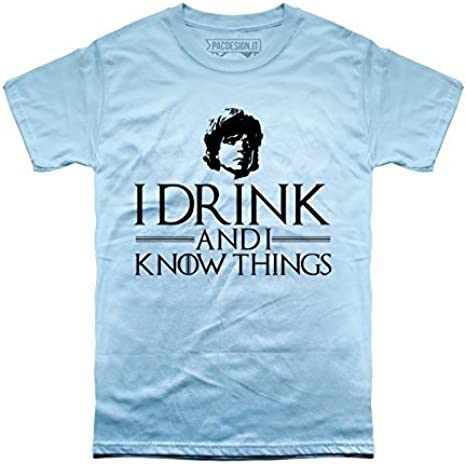 PACDESIGN T-Shirt Uomo Tyrion Lannister Games of Thrones Serie TV Il Trono di Spade TV Series Pd1452a