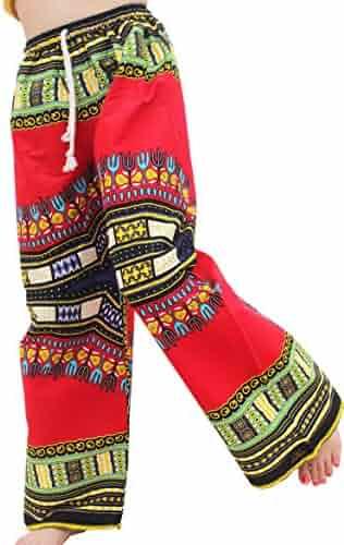 9a0217da75 Raan Pah Muang RaanPahMuang Baggy Straight Leg Carnival Dashiki Print  Unisex Pants Africa Print