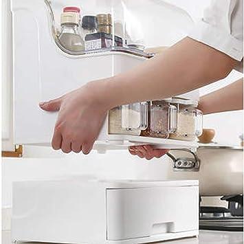Caja de almacenamiento utensilios de cocina - Condimento botella de almacenamiento Spice Rack Jar Caja de almacenamiento - Utensilios de cocina condimento cubiertos Solución condimento Caja de almacen: Amazon.es: Hogar