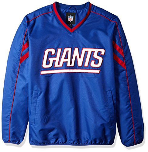 G-III Sports NFL New York Giants Adult Men Red Zone V-Neck Pullover, Medium, Royal