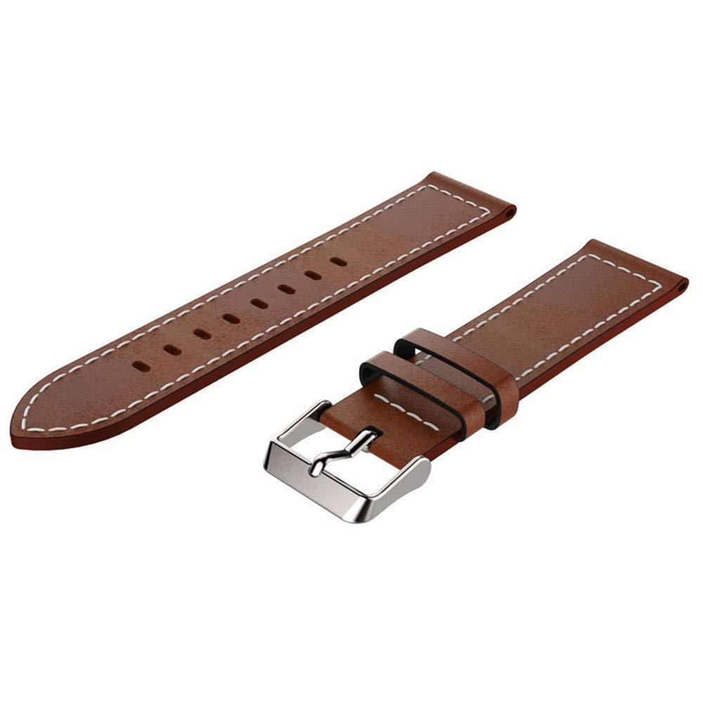 kaifongfu PU Leather Watch Band Wrist Strap For Samsung Galaxy Watch 46mm (B)