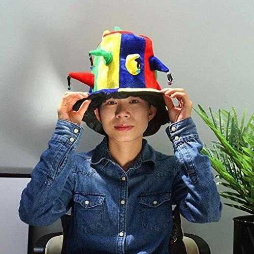 2018 World Cup Spain England Portugal football team bar KTV fan carnival Hedgehog Hat High hat (Color : B) by Liangmao