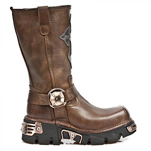 New Rock Boots M.1610-c2 Urban Biker Herren Stiefel Braun