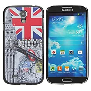 LZX London Painting Pattern Hard PC Cas for Samsung Galaxy S4 I9500
