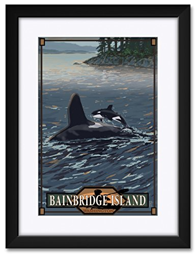 Bainbridge island Washington Framed & Matted Art Print by Mike Rangner. Print Size: 12