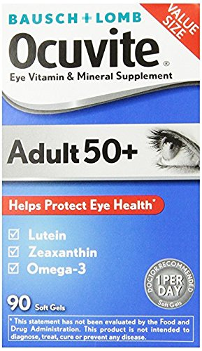 Bausch & Lomb Ocuvite Adult 50+ Vitamin & Mineral Supplement Soft Gels, 2Pack (150-Count Bottle Each ) bmdwl by Ocuvite