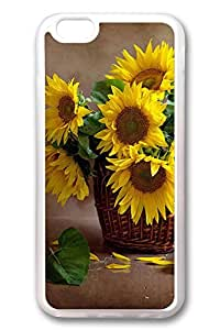 iPhone 6 Cases, Personalized Protective Case for New iPhone 6 Soft TPU Clear Edge Sunflower