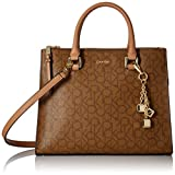 Calvin Klein Logan Monogram Signature Satchel, Khk/Brown