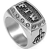 Stainless Steel FTW Biker Rider Middle Finger Ring (9)