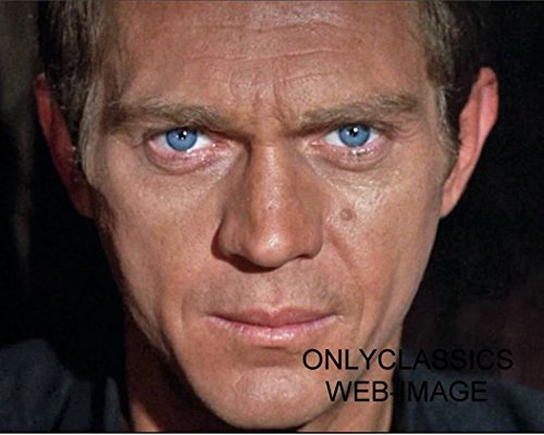 OnlyClassics Cool Tough Guy Steve McQueen Blue Eyes Staring Right at You 8X10 Photo ()