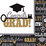 """Key To Success Graduation Party Luncheon Paper Napkins Tableware, 6"""" x 6""""Pack of 125"""
