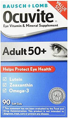 Bausch & Lomb Ocuvite Adult 50+ Vitamin & Mineral Supplement Soft Gels, 1Pack (150-Count Bottle Each ) Ngmlw