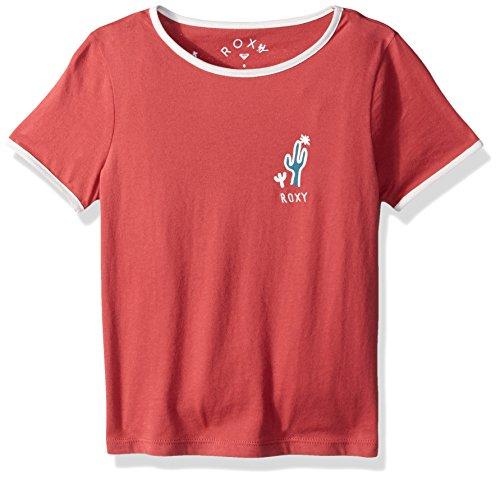 Roxy Little Girls' Time's up Ringer T-Shirt, Holly Berry, 4 - Time Ringer T-shirt