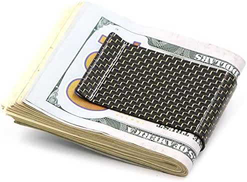 Kinzd Money Clip Carbon Fiber Minimalist Wallet Credit Card Business Card Holder