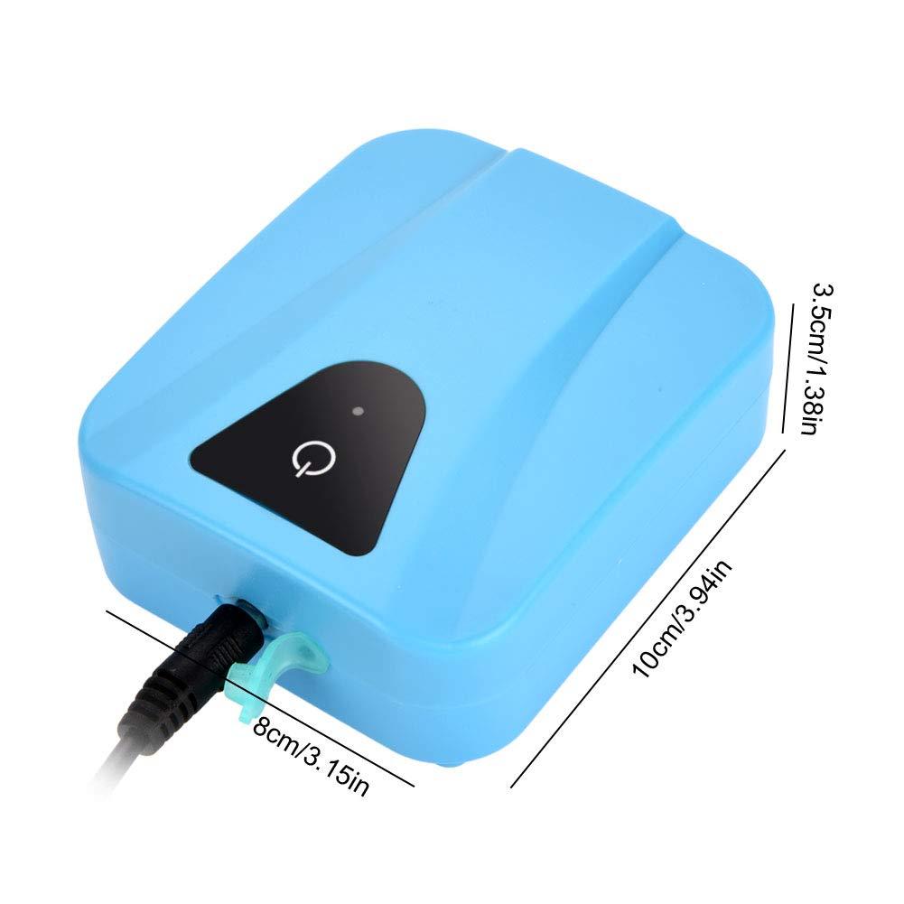 aeratore Impermeabile dellossigeno di USB per la Pompa dello Stagno dello Stagno del carro Armato di Pesci dellacquario idroponico Haofy Pompa dAria alimentata Solare dellossigenatore