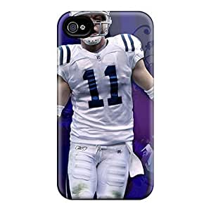 Awesome WOL3385Bzpc Elaney Defender Tpu Hard Case Cover For Iphone 4/4s- Indianapolis Colts