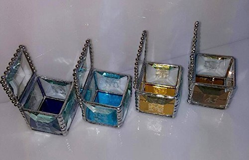 Faceted Clear Jewel Top Engagement Ring Box, Mirrored Glass Bottom, Bevels, Keepsake, Unique and Beautiful..Four Mirrored Glass Bottom Colors Available, A Very Special (Filigree Ring Box)