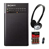 Sony ICFP26 Portable AM/FM Radio (Black) with