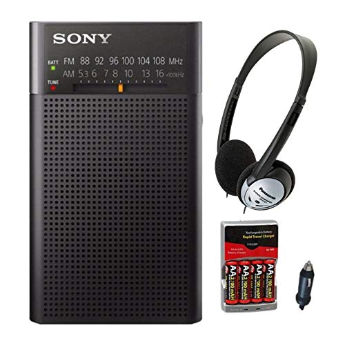 Sony ICFP26 Portable AM/FM Radio (Black) with