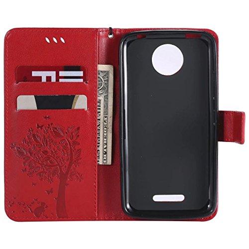 Fortunato Albero Moto Portafoglio Plus Supporto Per C Silicone Cuoio Rosso Motorola Borsa Magnetico rosso Tpu Protettivo Cover Morbido Lemorry Custodia Flip Plus Pelle qzHEREx