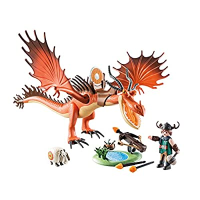 PLAYMOBIL How to Train Your Dragon Snotlout with Hookfang: Toys & Games