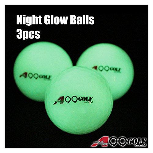 3pcs A99 golf night glow balls brihgter Luminous ball with logo in gift box B019Y9GXK8
