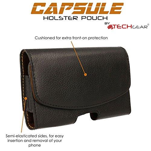 TECHGEAR® Capsule Horizontal aufklappbare PU-Leder-Schutztasche mit Gürtelclip für Apple iPhone 6S Plus und iPhone 6Plus (5,5 Zoll / 14cm)