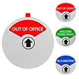 Privacy Sign, In a Meeting Sign, Out of Office Sign, Welcome Please Knock Sign, Office Sign, Conference Sign for Offices, 5 Inch, Silver
