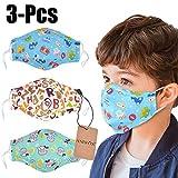 Dust Mask for Kids,Aniwon 3 Pcs PM2.5 Kids Mouth