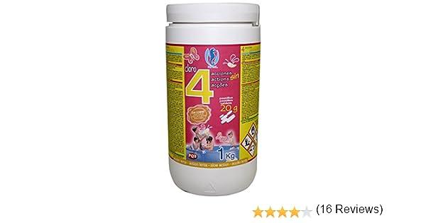 PQS - 167422 - Cloro en pastillas PQS 4 Acciones: Desinfección, Estabilizador de Cloro, Algicida y Floculante. Pastillas 20 gr.