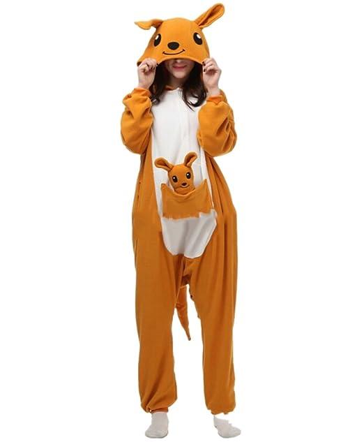 Fandecie Pijama Canguro, Onesie Modelo Animales para adulto entre 1,60 y 1,