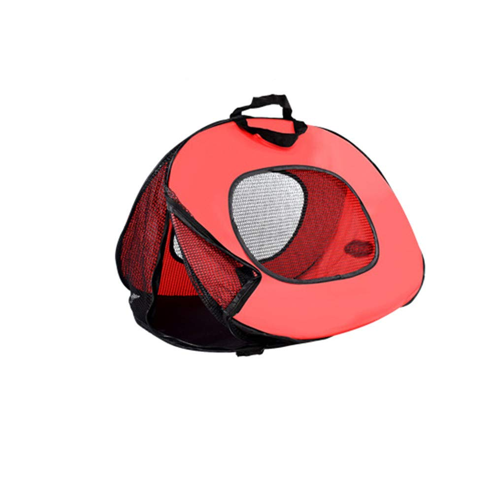 Red Pet Carrier Bag,Soft Fabric Pet Carrier Pet Carry Travel Shoulder Bag with Mesh Windows,for Car Bike Travelling,Red